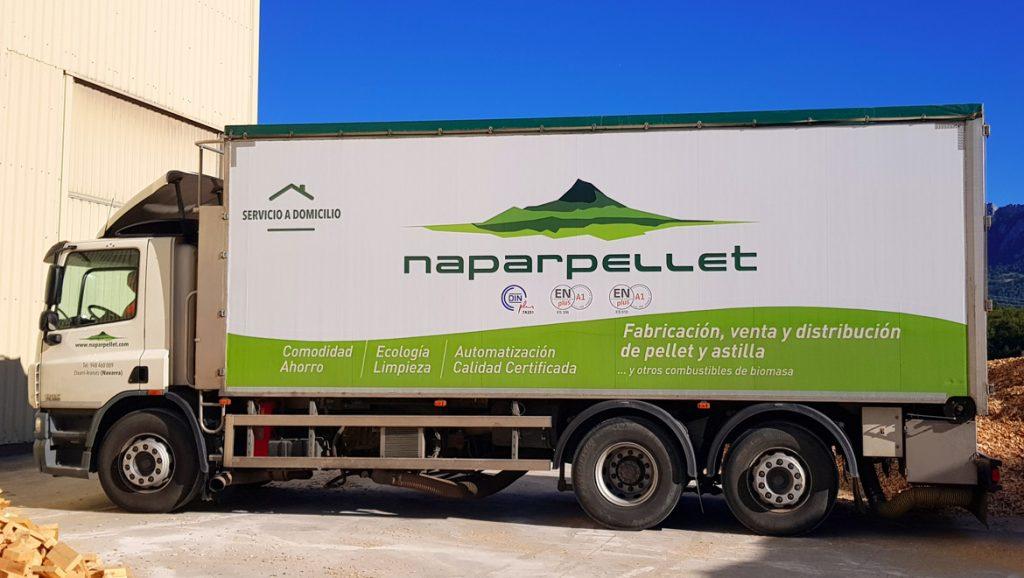 Naparpellet Servicios Camión Astilla